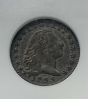 1795 H10C LM-8 FLOWING HAIR HALF DIME NGC ABOUT UNCIRCULATED 55