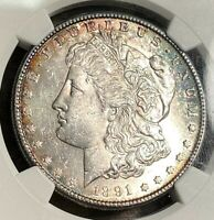 1891-S MORGAN DOLLAR NGC MINT STATE 61 SUPER FOR GRADE, BEST PRICE ON EBAY CHN