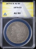 1879-O MORGAN DOLLAR SILVER S$1 ANACS AU50 ALMOST UNCIRCULATED | NEW ORLEANS