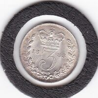VERY  SHARP  1883  QUEEN  VICTORIA  THREEPENCE   3D   SILVER  92.5   COIN
