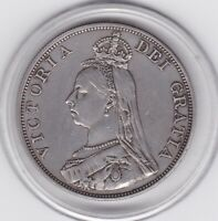 1889   QUEEN  VICTORIA  LARGE  DOUBLE  FLORIN  /  FOUR  SHILLING  COIN