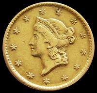 1851 GOLD UNITED STATES LIBERTY HEAD $1 DOLLAR TYPE 1  SOLDE