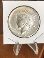1921 PEACE DOLLAR   NICE AU HIGH RELIEF COIN   KEY DATE   NO