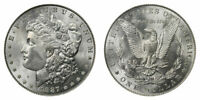 1887 MORGAN SILVER DOLLAR -UNCIRCULATED, MINT STATE 60