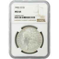 1902-O MORGAN SILVER DOLLAR MINT STATE 64 NGC LABELS OUR CHOICE