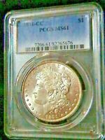 1891-CC MORGAN SILVER DOLLAR - PCGS MINT STATE 61 GREAT COIN