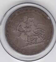 1820   KING  GEORGE  III  LARGE  CROWN / FIVE SHILLING  COIN