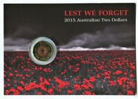 2015 $2 COLOURED UNCIRCULATED COIN: