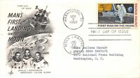 APOLLO 11 1ST MAN ON THE MOON FIRST DAY COVER    ARTCRAFT CA