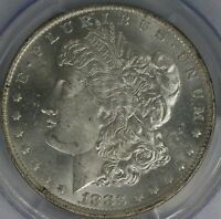 1883-O MORGAN DOLLAR. VAM-5 REPUNCHED MINTMARK. PCGS MINT STATE 63.  ET3240/JCL