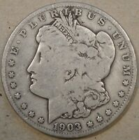 1903-S MORGAN DOLLAR 50C G-VG AS PICTURED