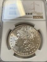 1903-P MORGAN SILVER DOLLAR $1 NGC MINT STATE 64   BRIGHT WHITE BEAUTY