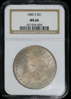 1880 S MORGAN SILVER DOLLAR NGC MINT STATE 66 | UNCIRCULATED
