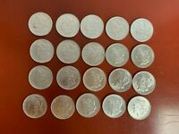 ROLL 20  ALL PRE 1900  MORGAN SILVER DOLLARS  AU/BU CLEANED  MIXED DATES