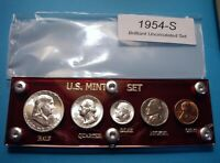 1954 S SILVER SET OF U.S. COINS CHOICE BRILLIANT UNCIRCULATE