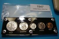 1947 SILVER YEAR SET OF U.S. COINS LUSTROUS ABOUT MINT TO BR