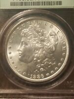 1886 MORGAN SILVER DOLLAR VAM 1A LINE IN 6 TOP 100 SPIKED NECK MINT STATE 63 OGH PCGS