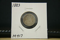 1883 SEATED LIBERTY DIME SILVER LOT M417