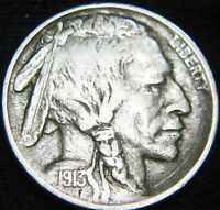 1913-P MOUND TYPE 1 BUFFALO NICKEL 5 ONLY 99 SHIPPING HF01RX