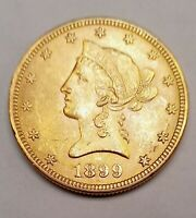 1899 UNITED STATES $10 LIBERTY HEAD EAGLE GOLD COIN EXCELLEN