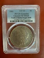 1901 TOP-100 $1 PCGS CLEANED  EXTRA FINE   DETAILS VAM-3  DDR FEATHERS MORGAN DOLLAR