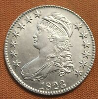 1823 CAPPED BUST SILVER HALF DOLLAR EARLY HALVES 50C 1/2