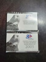 2005 & 2006 US MINT 50 STATE PROOF SILVER QUARTER SETS WITH