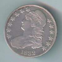 1832 U.S. CAPPED BUST HALF DOLLAR   SILVER   KM37   CLEANED