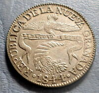 COLOMBIA COIN 2 REALES 1844 R.S XF