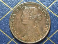 NEW BRUNSWICK CANADA 1864 1 CENT    OLD VICTORIA COIN E/F LEGEND ERROR