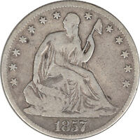 1857 O LIBERTY SEATED HALF DOLLAR PLEASING CIRCULATED EXAMPLE!