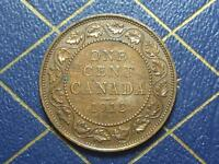 HIGH GRADE 1912 CANADIAN LARGE PENNY KING GEORGE V OLD BRONZE COIN LOT 12A