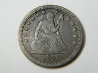 1846 SEATED LIBERTY QUARTER WITH NEARLY FULL LIBERTY