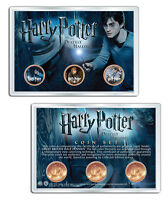 HARRY POTTER GREAT BRITIAN 3 COIN SET   DEATHLY HALLOWS