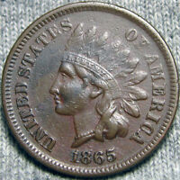 1865 INDIAN CENT TYPE PENNY ---  ---  P306