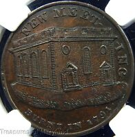 NGC MS63 CERTIFIED 1791 BUTTONS & MEDALS BRITISH COLONIAL HALFPENNY  SKU HC19