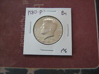 1980 P  BU KENNEDY HALF DOLLAR    NICE COIN FROM  MINT SET  M