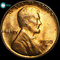 1930-S LINCOLN CENT GEM BU RED UNCIRCULATED UNC WHEAT CENT STUNNING C130