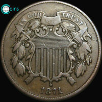 1871 TWO CENT PIECE TYPE COIN LOW MINTAGE  S346