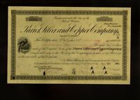 PARROT SILVER & COPPER COMPANY  BUTTE MONTANA DD 1900S OLD STOCK CERTIFICATE