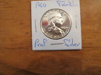 1960 PROOF FRANKLIN SILVER HALF DOLLAR  EXCELLENT COIN  M