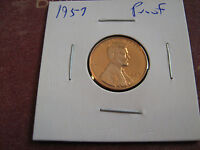 1957 PROOF LINCOLN CENT NICE COIN A