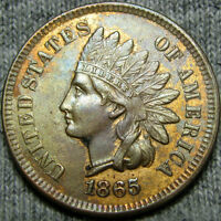1865 INDIAN CENT TYPE PENNY COIN DAMAGES -----   ----- P691