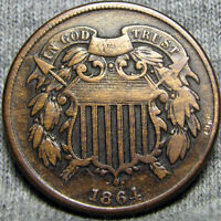 1864 TWO CENT PIECE 2CP TYPE COIN   --- I REVIEW ALL OFFERS --- P405