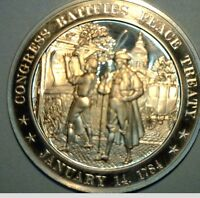1784 CONGRESS RATIFIES PEACE TREATY WITH GB SOLID BRONZE MEDAL HISTORY OF THE US