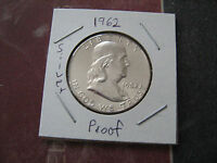 1962 PROOF FRANKLIN SILVER HALF DOLLAR GREAT LOOKING COIN A