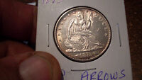 1873 ARROWS AT DATE SEATED LIBERTY HALF MINT STATE