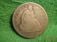 1861 S LIBERTY SEATED HALF  GOOD  CIVIL WAR     SILVER