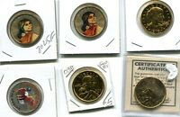 1979 2000 2003 NATIVE AMERICAN SUSAN B ANTHONY COLORIZED DOLLAR LOT OF 6