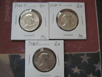 1980 PDS BU S.B. ANTHONY DOLLARS 3 GEM COINS FROM MINT SET A